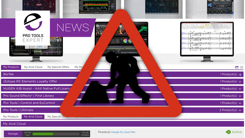 Avid Announce Scheduled Maintenance On The MyAvid Servers Which Host Your Avid Master Account