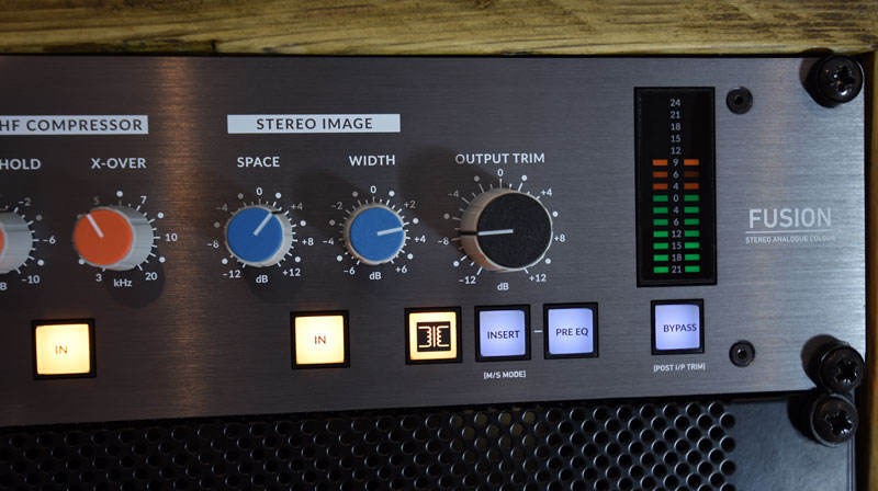 Stereo Image and Output section of the SSL Fusion.