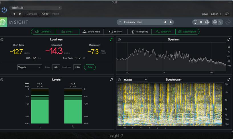 iZotope Insight 2 Spectrogram