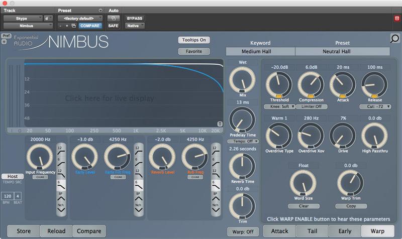 Exponential Audio Nimbus Warp Page