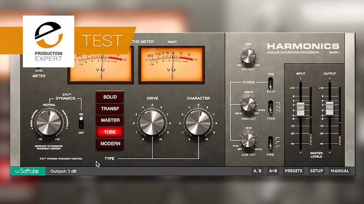 Test - Softube's New Harmonics Dynamic Distortion Plug-in Has An