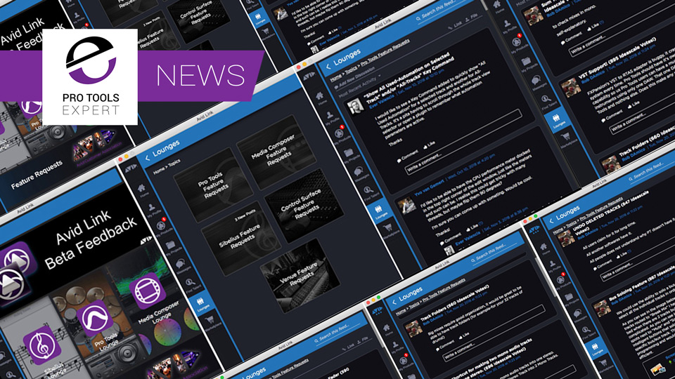 Avid Link App Brings A Unified Way To Suggest Pro Tools Feature Requests to Avid