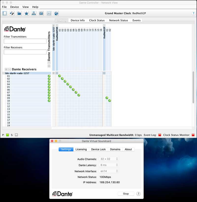 DANTE Controller and DANTE Virtual Soundcard (DVS)