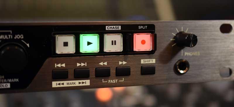 DA-6400 Transport Controls and Headphone Jack.