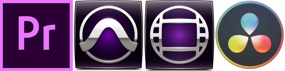 Avid Pro Tools, Avid Media Composer, Adobe Premiere Pro, Blackmagic Design DaVinci Resolve