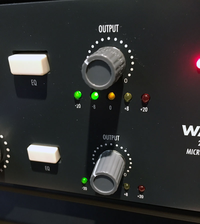 WA273 Output trip pulled back to counter the increased gain.