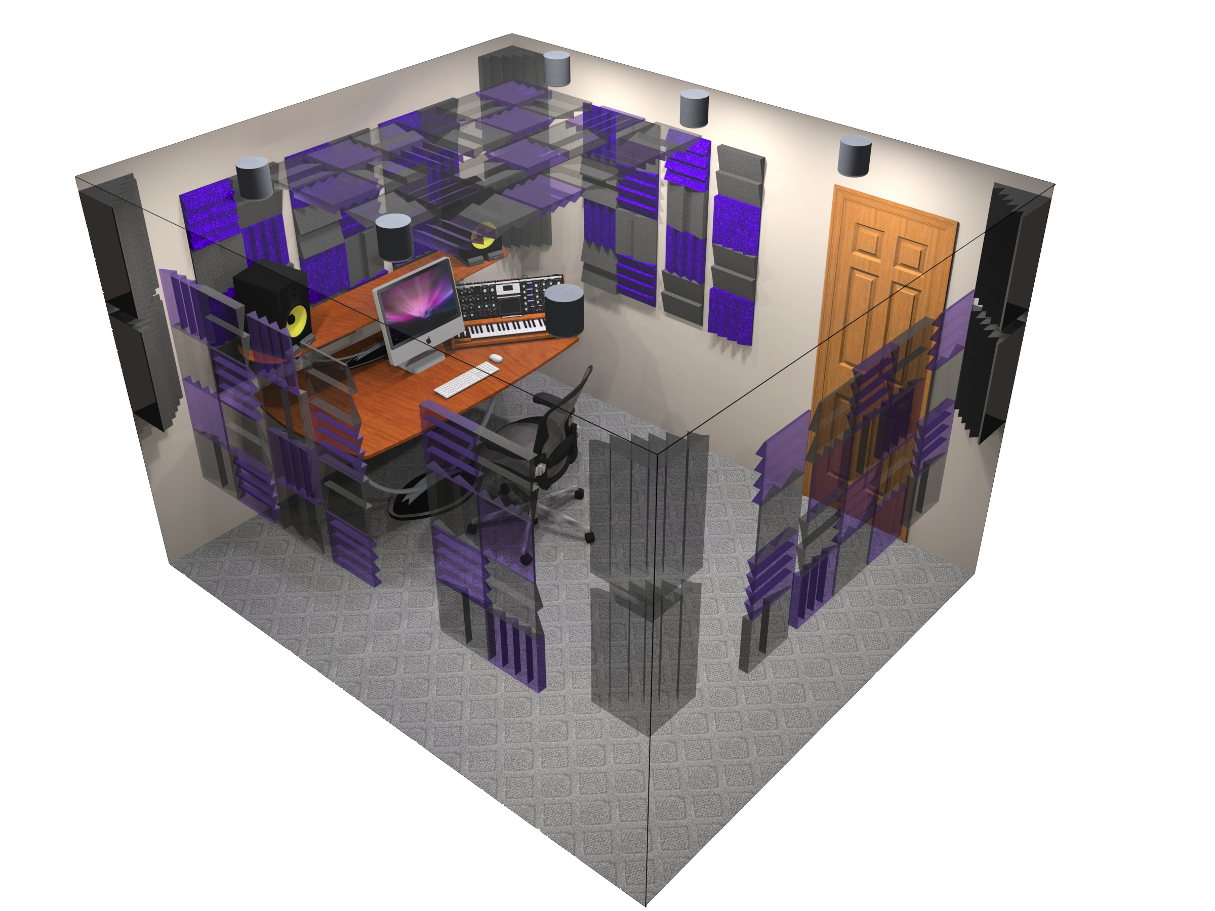 off the shelf acoustic treatment products room kits foam bass traps.png