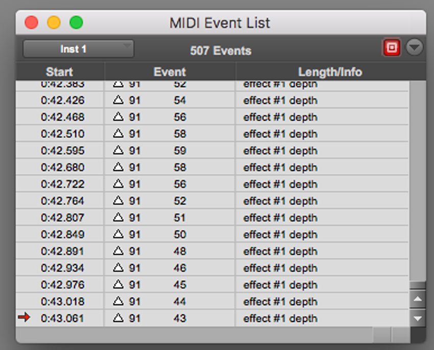 The Pro Tools MIDI Event List Can Help You See Your