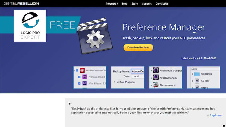 Free Preference Manager for Logic Pro X & Pro Tools | Logic Pro