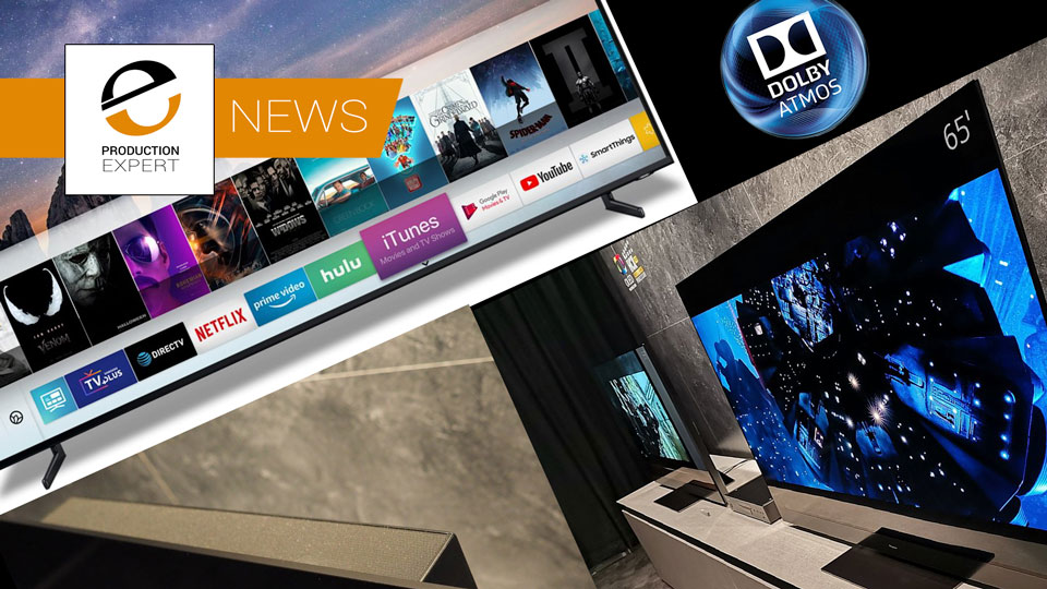 CES 2019 - Panasonic Announce First TV With Upward Firing Speakers For Dolby Atmos And Samsung Announce Apple TV App For Smart TVs