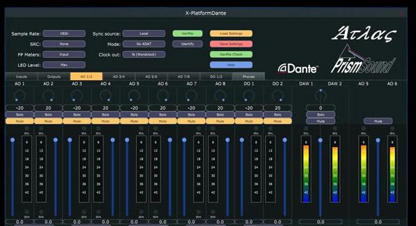 Prism Sound Dante Control app