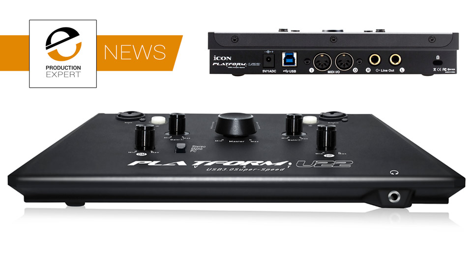 icon pro audio announce their new platform u22 vst usb 3 audio interface production expert. Black Bedroom Furniture Sets. Home Design Ideas