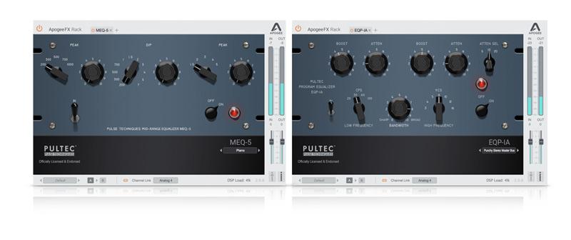 Apogee MEQ-5 and EQP-1A Pultec Plug-ins