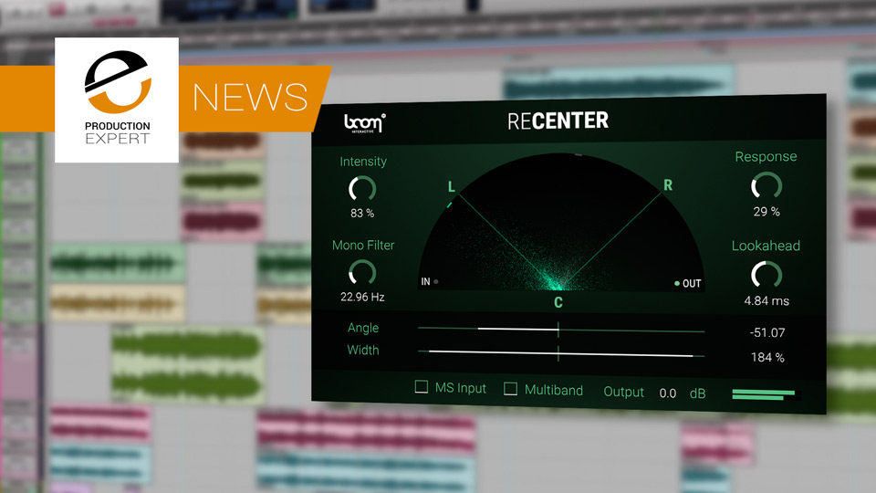 Boom Library Announce Re-Center Plug-in Designed To Fix Off Centre Recordings