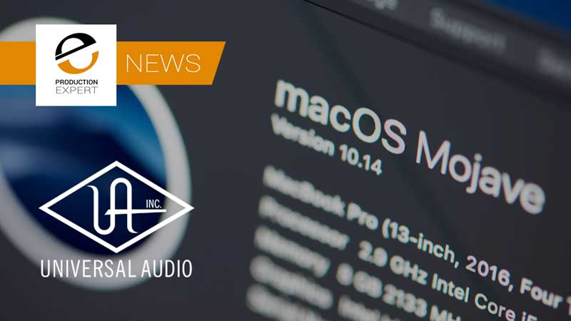 Mac OS Mojave Now Supported With The 9.8 Update To Universal Audio Software