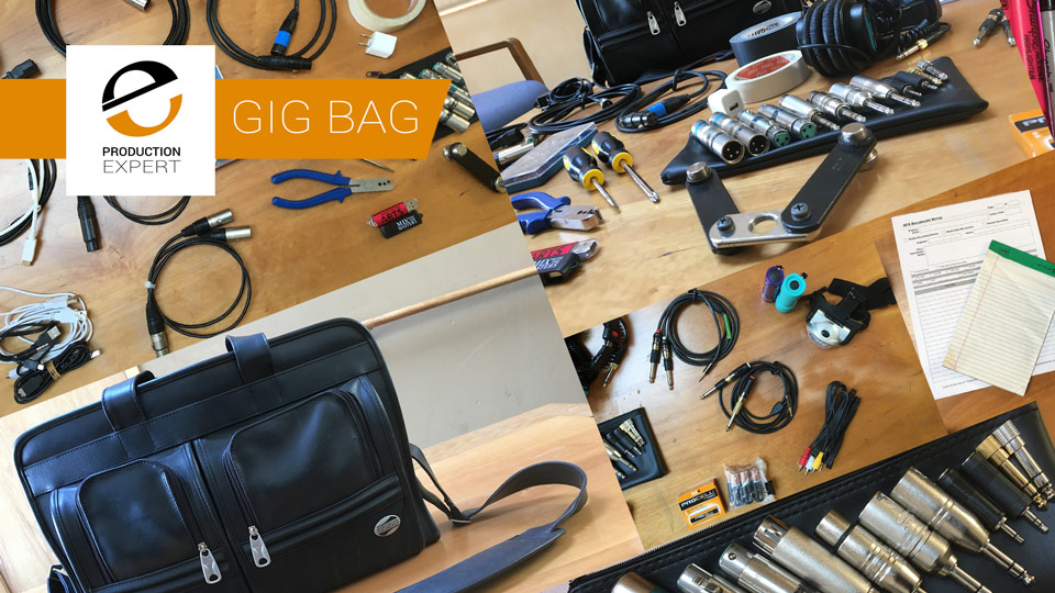 Unpacking My Gig Bag. We Show You What To Have In A Remote Recording Engineer's Gig Bag