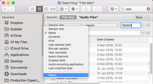 Did You Know MacOS Finder Can Search Audio File Metadata