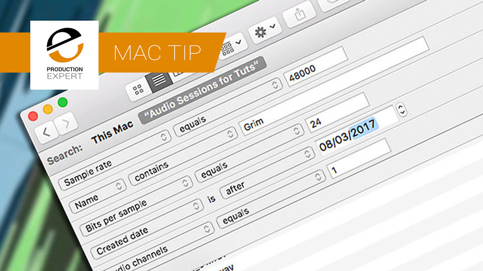 Did You Know MacOS Finder Can Search Audio File Metadata Like The Workspace Browser In Pro Tools Can?