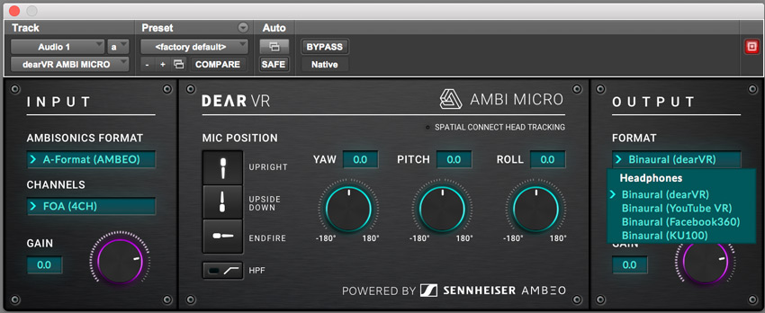 dearVR-AMBI-MICRO-Plug-in