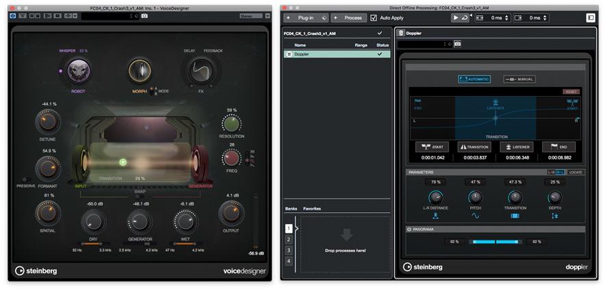 Nuendo 10 VoiceDesigner And Doppler Plug-ins