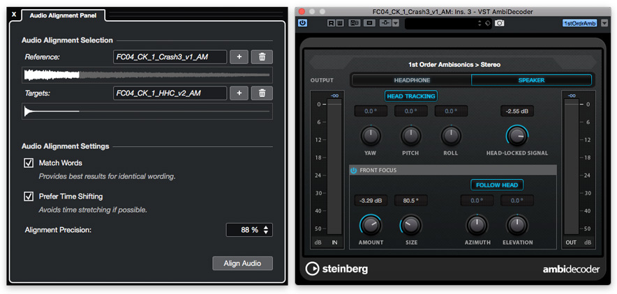 Nuendo 10 Audio Alignment And AmbiDecoder