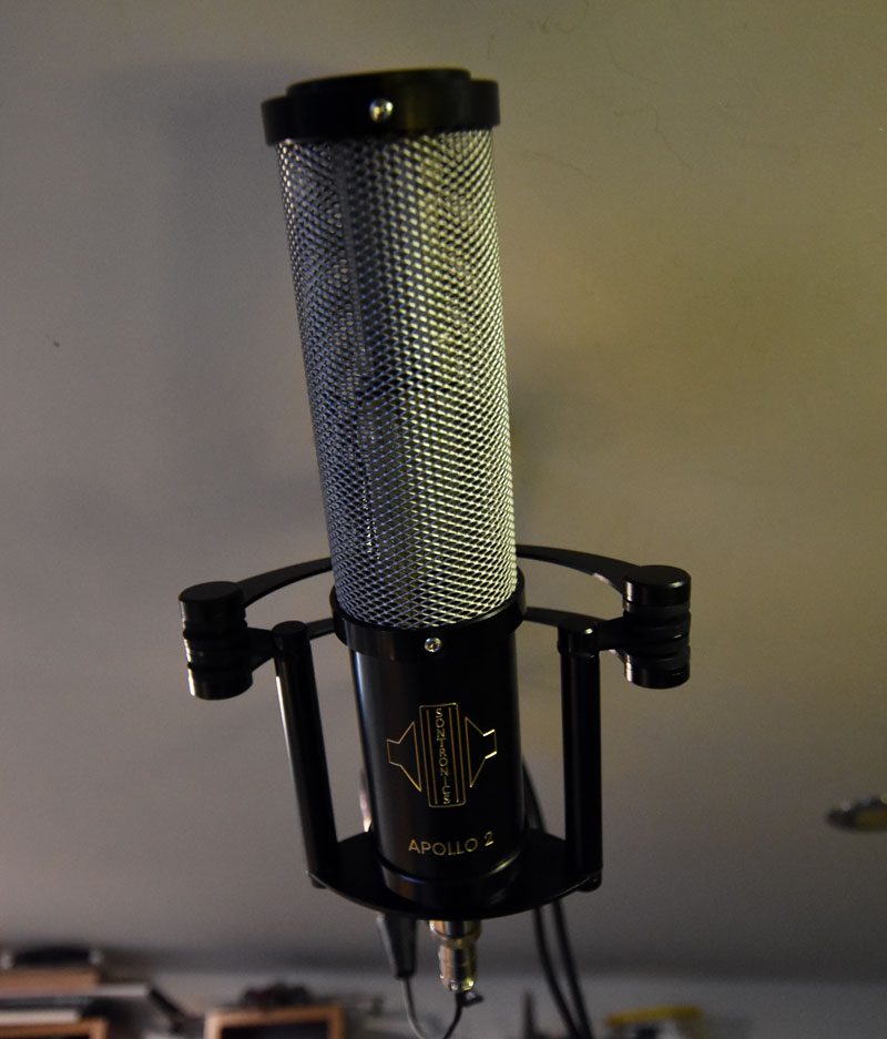 Sontronics Apollo 2 Stereo Ribbon Mic Above The Drum Kit
