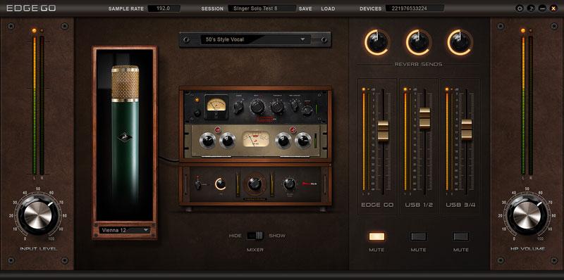 The Antelope Audio Edge Go Control Panel