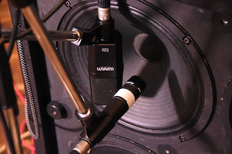 "Warm Audio WA-14 and Shure SM 57 on a 12"" speaker driver."