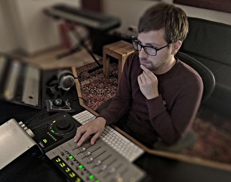 German Audio Engineer Chris Schmid At His Studio