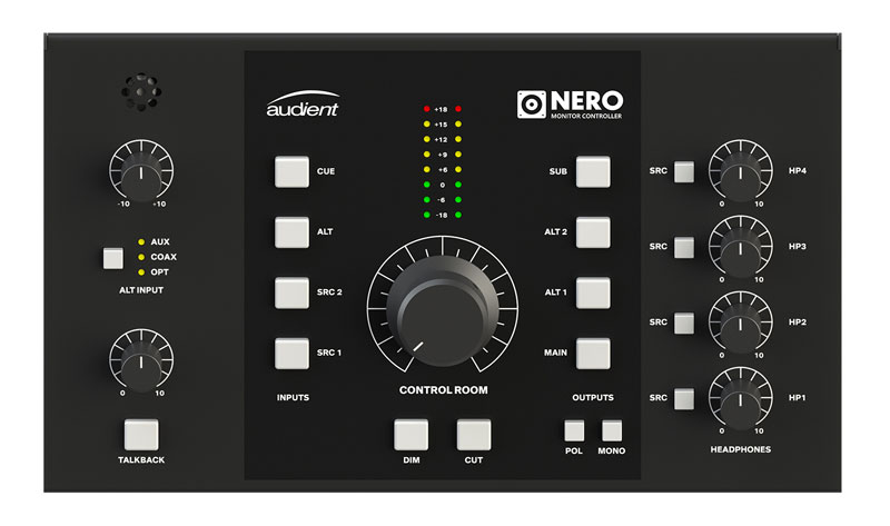 High definition render of the main controls of Nero.