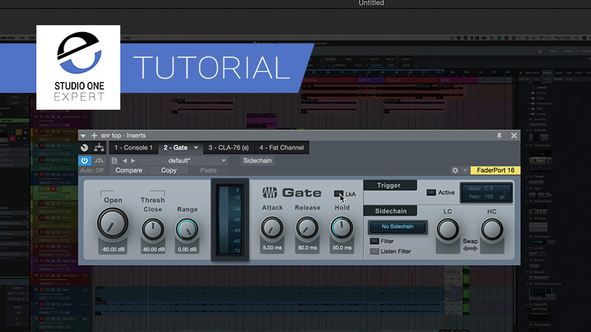 The Best Noise Gate Plugin Around Using The Studio One
