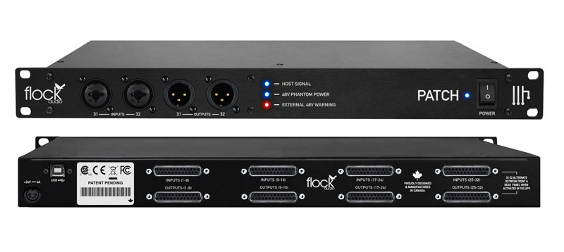 The Flock Audio Patch digitally controlled fully analogue patch bay and routing system.