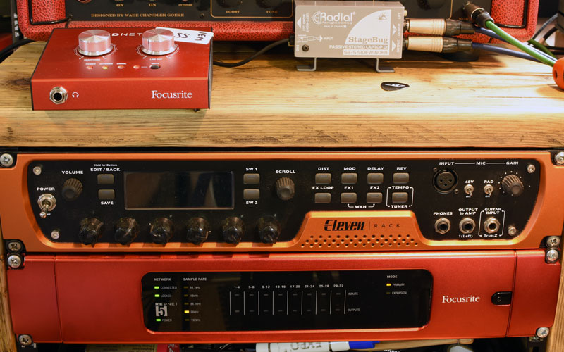 Focusrite Rednet 5 HDX Bridge with Rednet AM2 monitor amp.