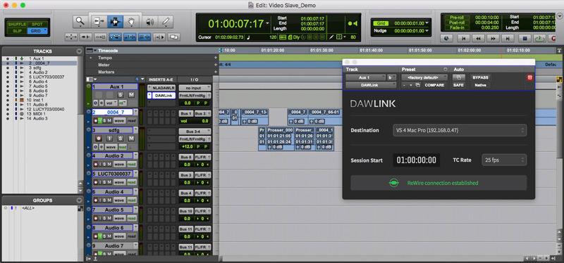 Non Lethal Applications' DAWLink in Pro Tools