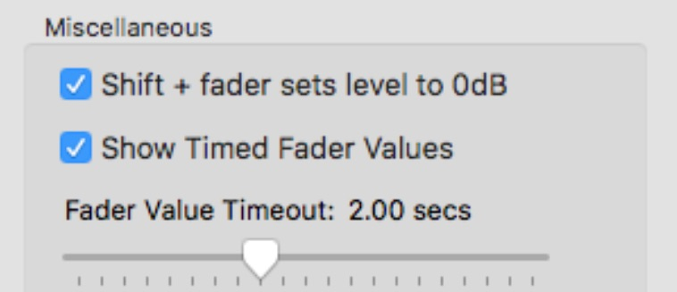 EuControl 2019.5 Fader Values