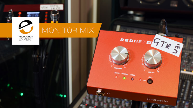 Focusrite Rednet AM2 Dante headphone amp is one of the 4 new monitor controllers in the studio