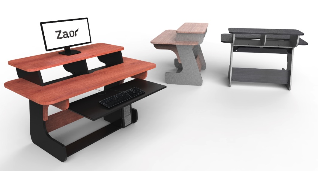 best recording studio furniture desks with racks keybaord trays zaor.jpg