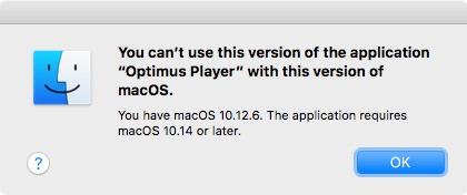Optimus Player macOS Mojave
