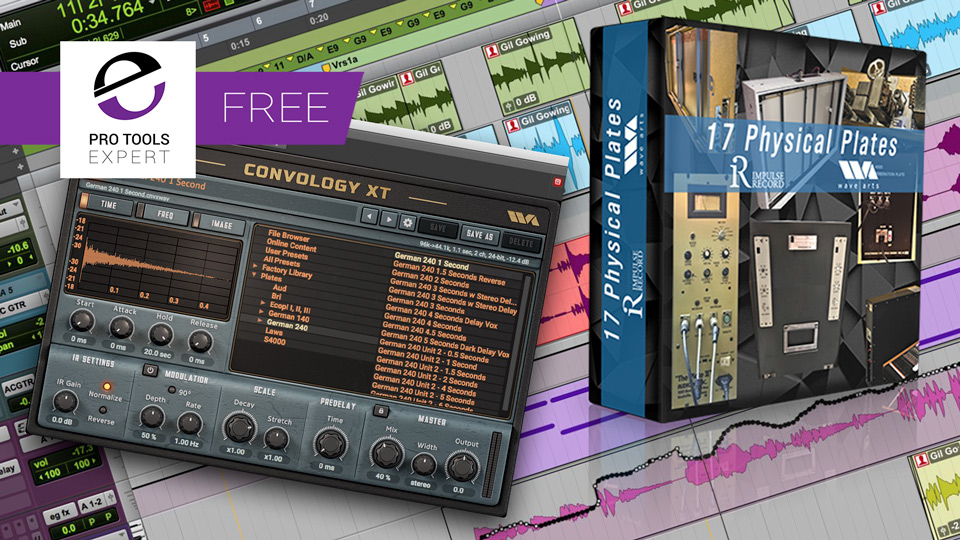 Another Free Loyalty Reward From Avid - Plate Reverb Impulse Responses Worth Over $100 To Go With Free Convology XT Plug-in