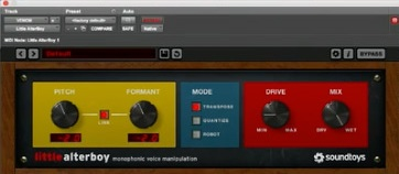 - Plug-in 1: Soundtoys Little Alterboy