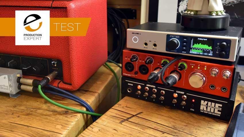 KHE Audio Electronics Amp Switcher in James' studio