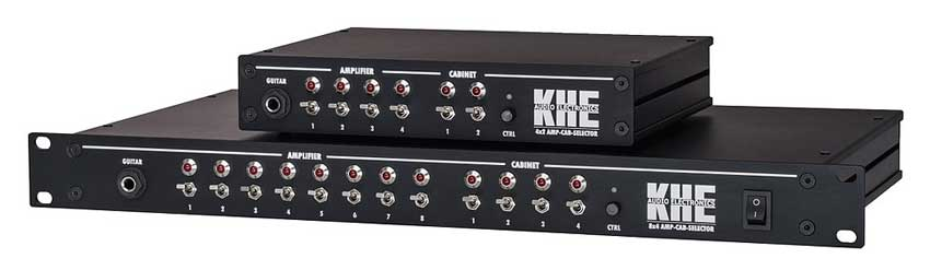 The two units in the KHE Audio Electronics Amp/Speaker switching range. The 4x2 and the 8x4.