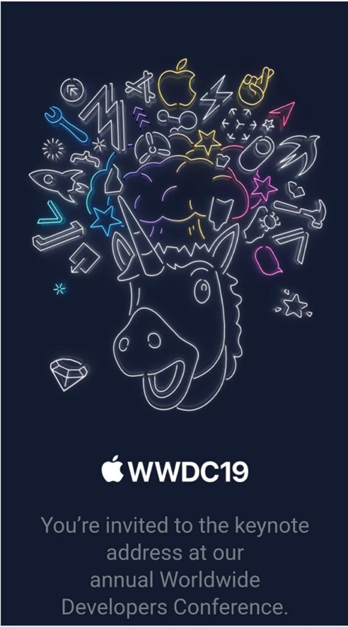 Apple WWDC 2019 Invite