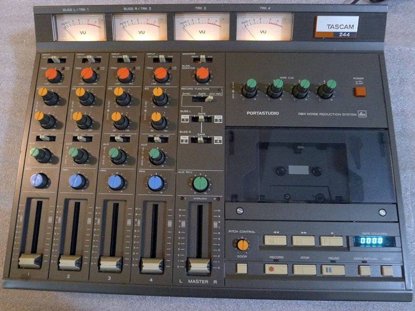 The very first 4 track home studio the Tascam 244.