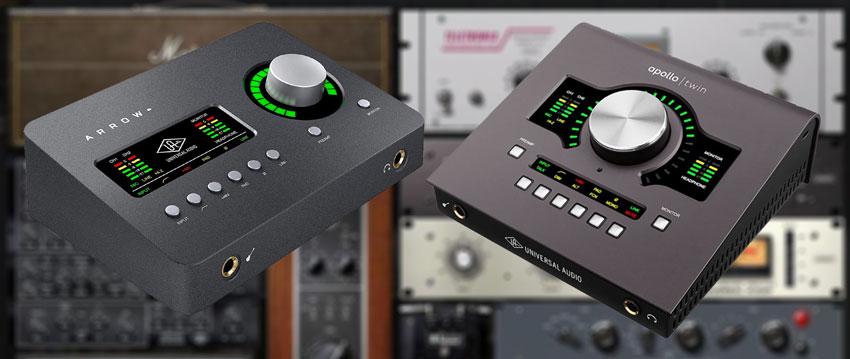 Universal Audio Apollo Twin MK2 and Arrow audio interface.