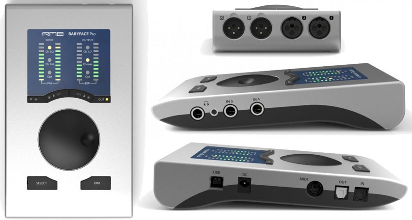 The RME Babyface Pro for all sides.