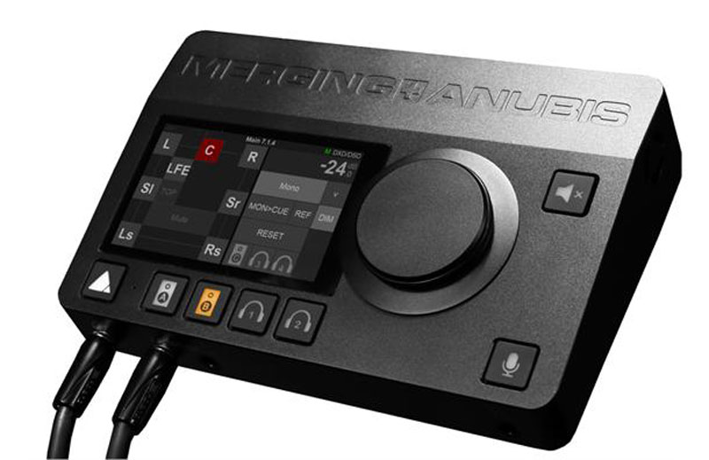 The new Merging Technologies Anubis audio interface and networked controller.