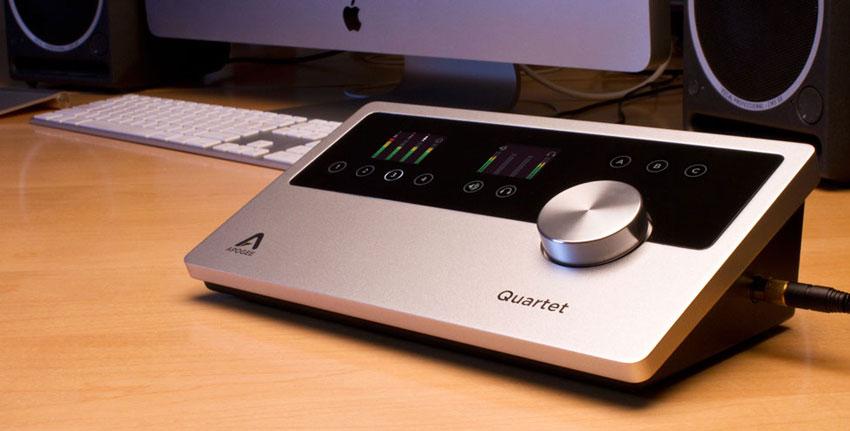 The Apogee Quartet USB audio interface