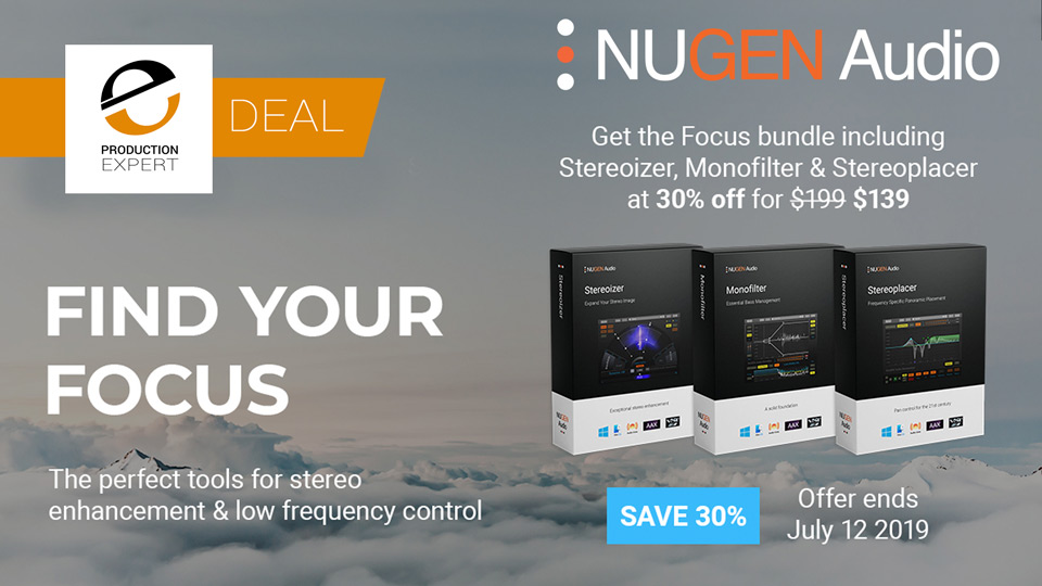 Nugen Audio Offer 30% Off Focus Bundle With Stereoizer Monofilter And Stereoplacer Plug-ins Until July 12th 2019