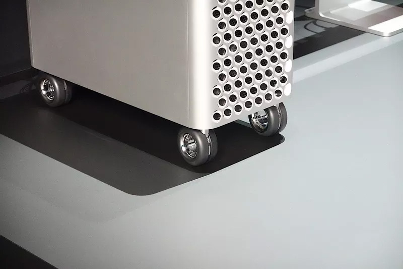 Mac Pro With Optional Wheels - Image from The Verge